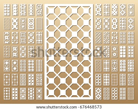 70 vector panels cutout silhouette arabic stock vector royalty free