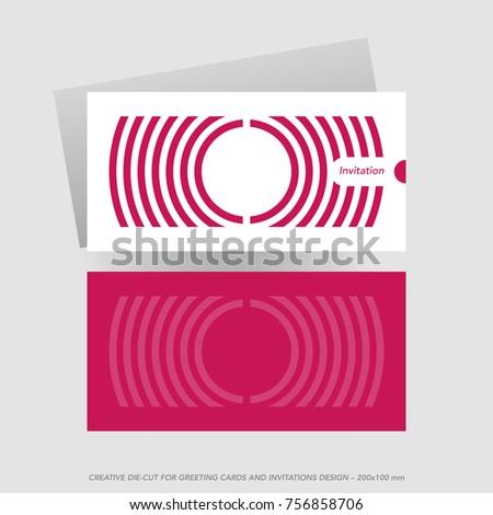 Die cut greeting card template stock vector 756858706 shutterstock die cut greeting card template m4hsunfo