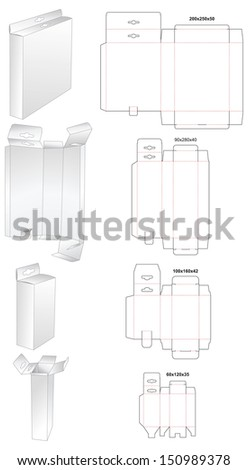 die set of box  - stock vector