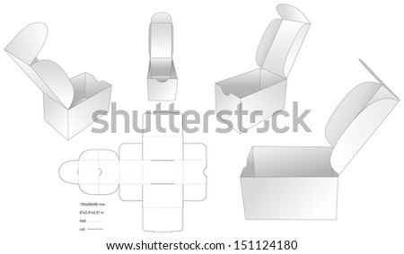 die simple card box - stock vector