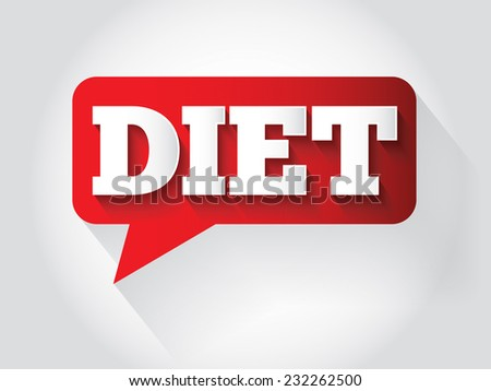 DIET Message bubble, promotional background, presentation poster - stock vector