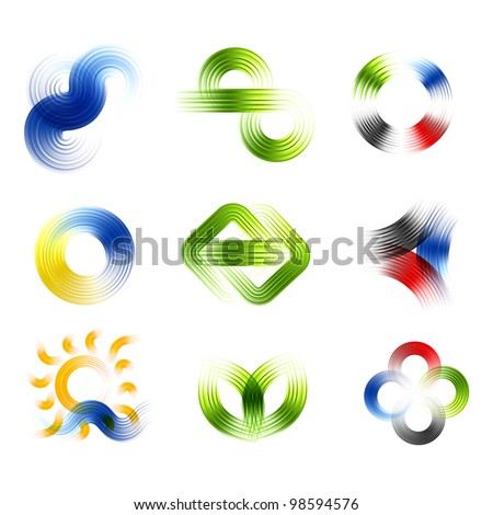 Different abstract logos and elements for design(icon). Vector set