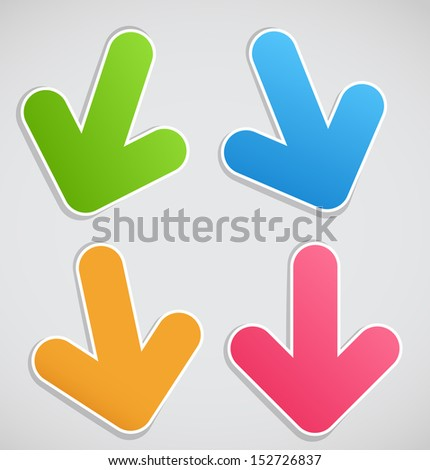 Different arrows vector illustration
