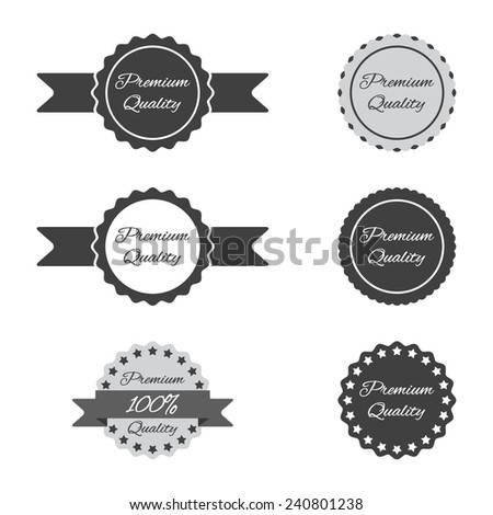 different badges - stock vector