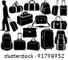 Different bags set - stock photo