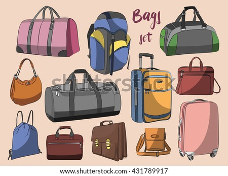 Different bags set