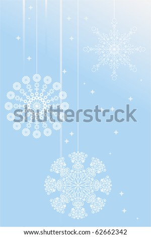 different beautiful snowflakes - stock vector