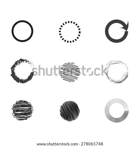 different circles - stock vector