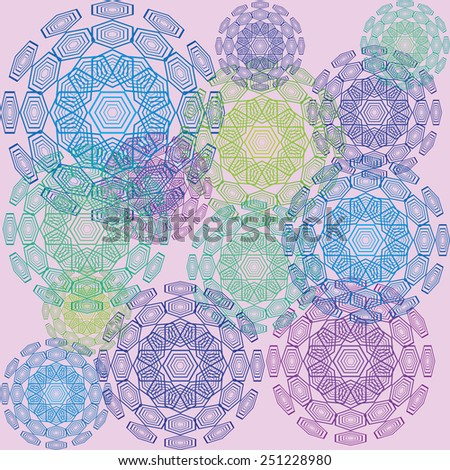 different colored polygons - stock vector