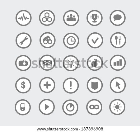 different flat icons set - stock vector