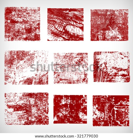 Different grunge frames vector