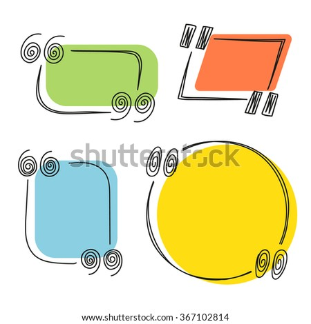 Different hand-drawn quote templated set. Design elements - stock vector