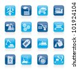 different kind of business and industry icons - vector icon set - stock vector