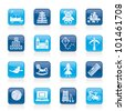 different kind of toys icons - vector icon set - stock vector