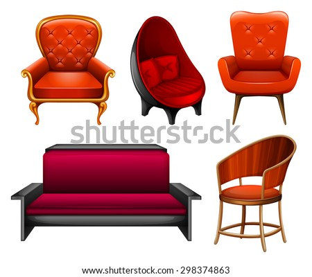 Beau Different Kinds Of Chairs In Red