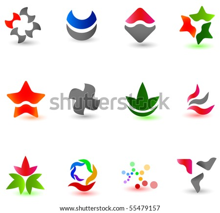 Different modern icons for your design (part 3). Please visit my gallery to see similar. - stock vector