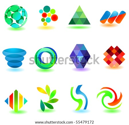 Different modern icons for your design (part 8). Please visit my gallery to see similar. - stock vector