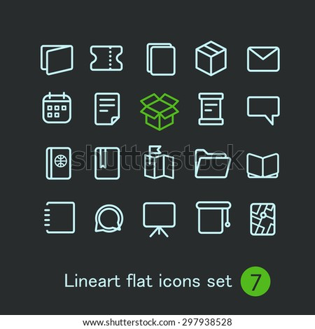 Different modern media web application icons collection. Vector clip-art - stock vector