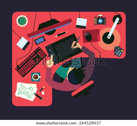 Different professions. This vector illustration made on bussyness theme in flat style.