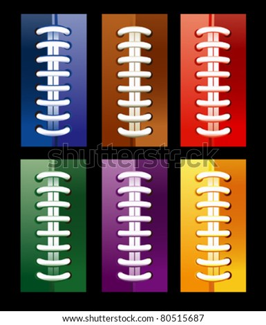 Different rainbow bootlaces - stock vector