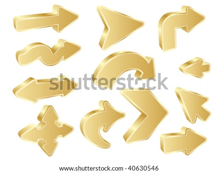 different shape of arrows vector illustration - stock vector