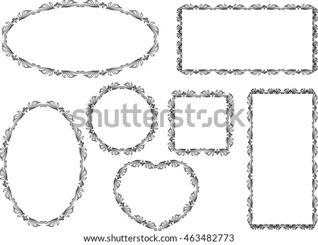 Different Shapes Frame Design Stock Vector HD (Royalty Free ...