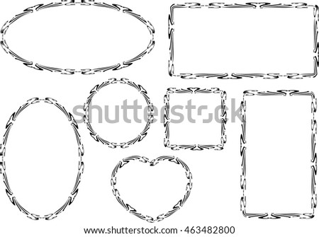Different Shapes Frame Design Stock Vector (2018) 463482800 ...