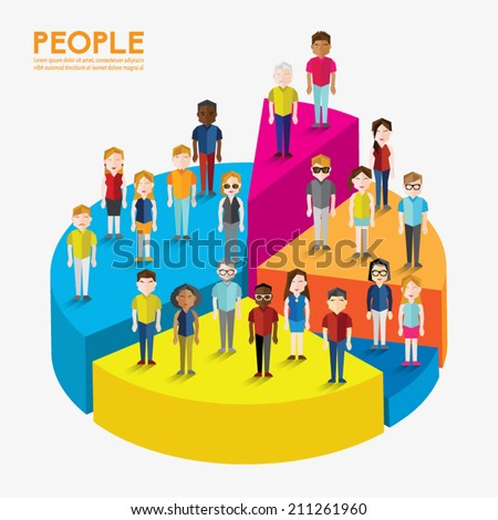 Different Social Groups of People Icon Vector Design - stock vector
