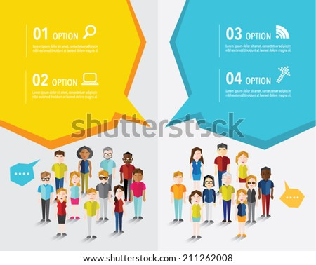 Different Social Groups of People Icon Vector Design