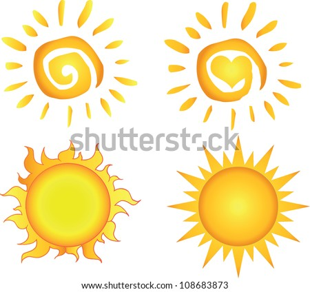 Different Sun .Vector Collection
