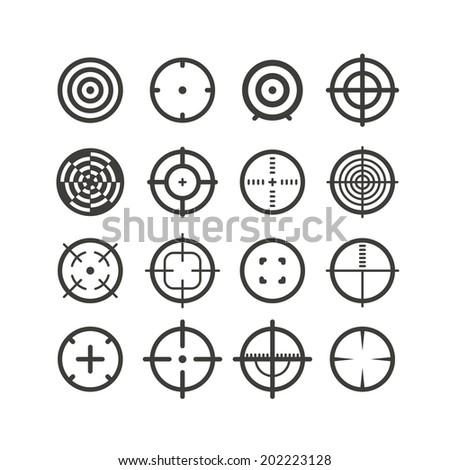 Different targets collection - stock vector