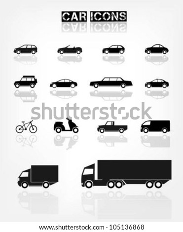 Different transports icon - stock vector