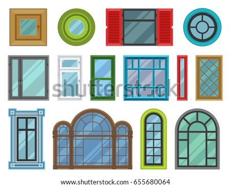 Different types doors stock images royalty free images for Different shapes of houses
