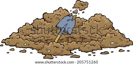 Digging hole on a white background vector illustration - stock vector