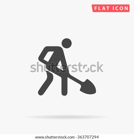 Digging Icon.  - stock vector
