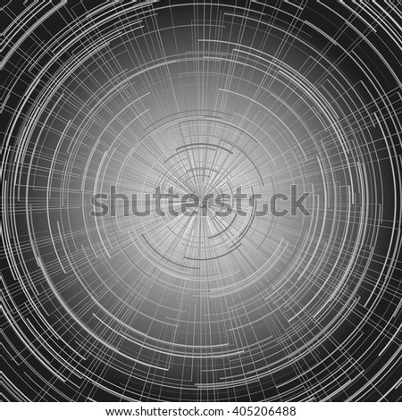 Digital abstract circle background.