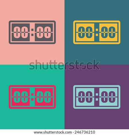 Digital alarm clock vector icon. - stock vector