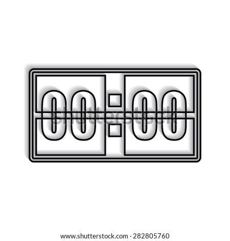 Digital alarm clock vector icon with shadow - stock vector