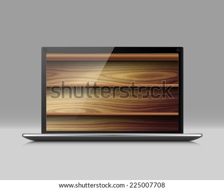 Digital and real books, vector - stock vector