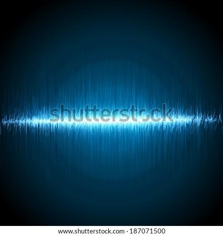 Digital blue light Equalizer background. Vector illustration - stock vector
