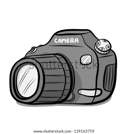 Digital Camera Cartoon Vector Illustration Isolated Stock Vector ...