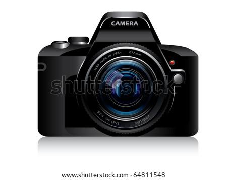 Digital camera lens - stock vector