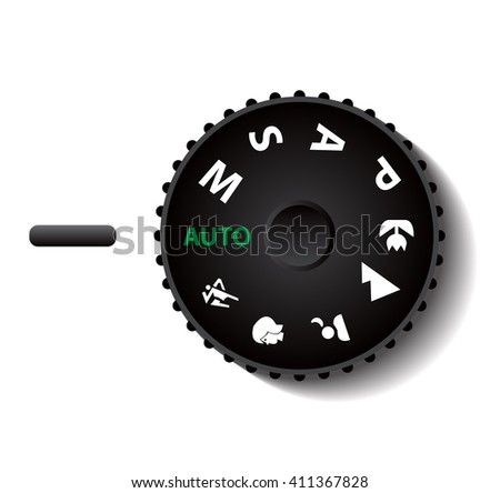 digital camera mode button vector illustrations - stock vector