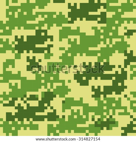 Digital camouflage seamless pattern - stock vector