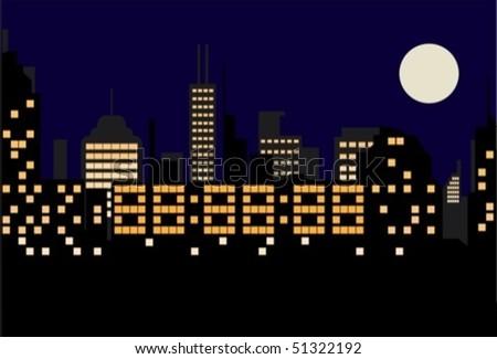 digital city - stock vector