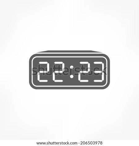 digital clock icon - stock vector