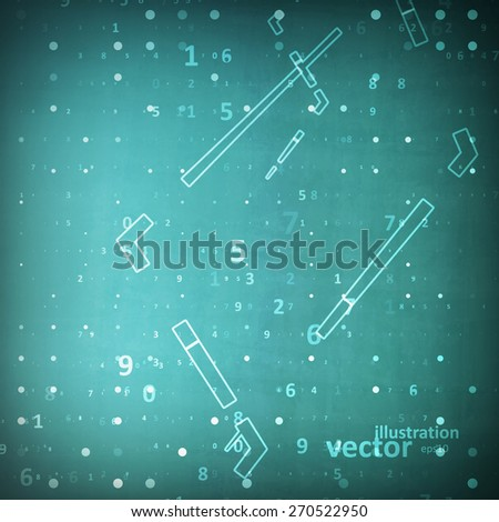 Digital code background, abstract technology vector illustration eps10 - stock vector