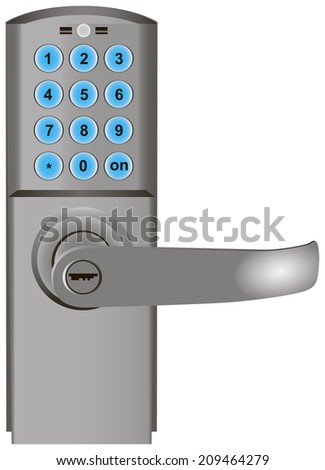 Digital Code Door Lock Keypad Entry Stock Vector 2018 209464279