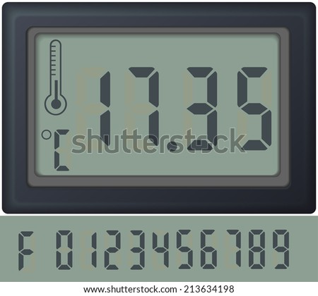 digital count clock watch, with different numbers vector - stock vector