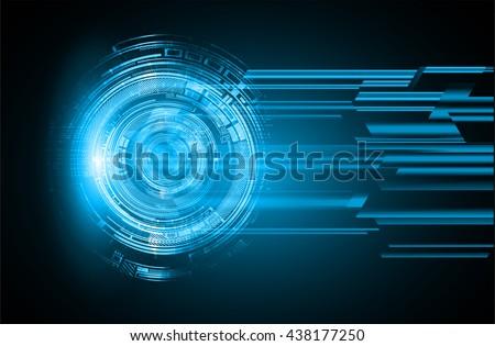 digital data background,blue abstract light hi tech pixel internet technology, Cyber security concept, Cyber data digital computer, move motion vector. spark. eye - stock vector